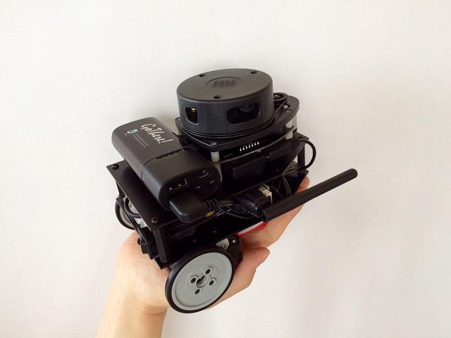 ROSのNavigationパッケージによる自律移動が可能なSLAMロボット「GoThere!ロボット」