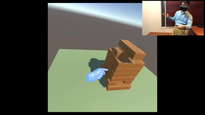 素手で楽しめるVR積み木ゲーム